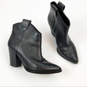 Lucky Brand Black Leather Amarys Bootie 7M